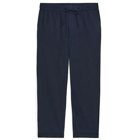 donkerblauwe pyjamabroek arket lange pijpen