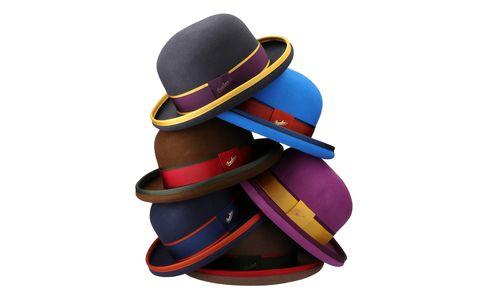 Hat, Fashion accessory, Headgear, Fedora, Costume hat, Costume accessory, Sun hat, Cowboy hat, Bowler hat,