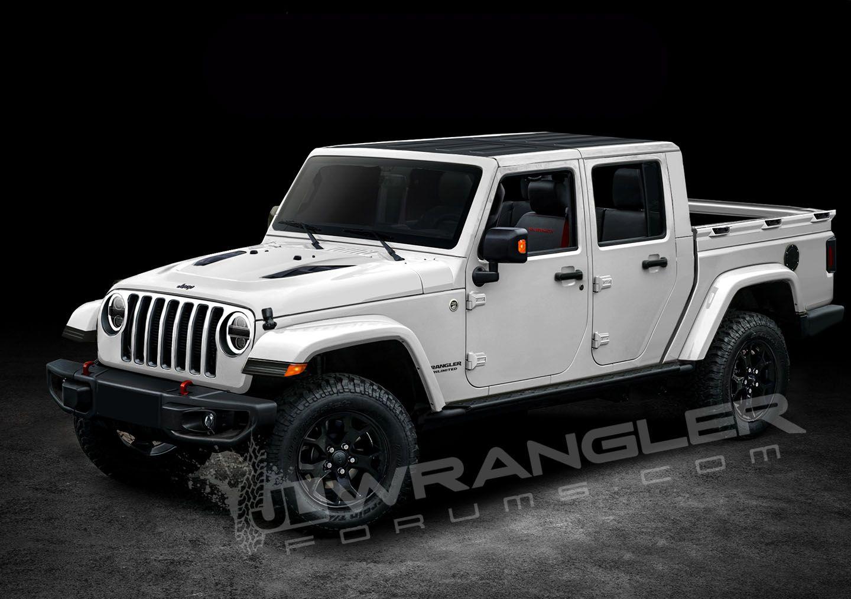 The New Jeep Wrangler Pickup >> 2019 Jeep Wrangler Pickup Rendered