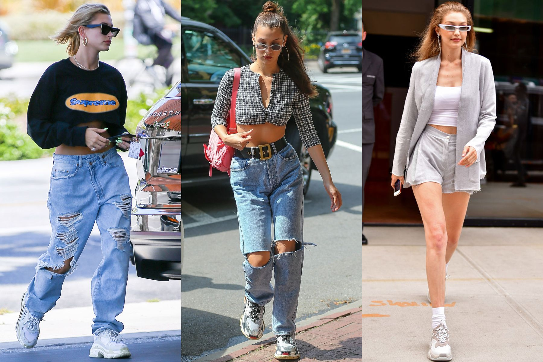 EXCLUSIVE: Hailey Baldwin shows her abs while stoping to pump some gas in her Porsch in Beverly Hills
