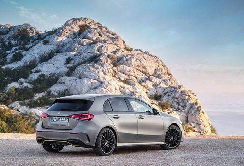 Land vehicle, Vehicle, Car, Automotive design, Mid-size car, Luxury vehicle, Mercedes-benz, Hatchback, Automotive tire, Rim,