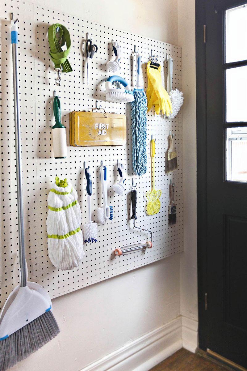 Laundry Room Pegboard