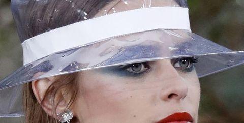 Hair, Face, Lip, Clothing, Hat, Beauty, Head, Fashion accessory, Chin, Headgear,