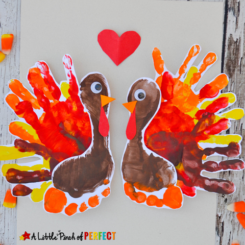 handprint turkey easy thanksgiving crafts for kids