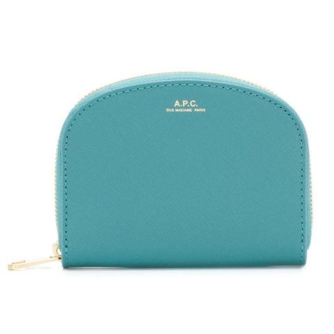 apc藍綠色拉鍊零錢包