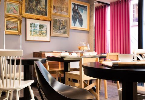 Interior design, Room, Table, Furniture, Picture frame, Hardwood, Interior design, Curtain, Design, Wood stain,