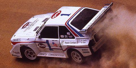 Land vehicle, Vehicle, Car, Race car, Audi pikes peak quattro, Sports car, Motorsport, Racing, Group b, Rallycross,