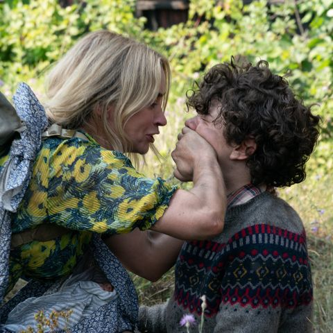 a quiet place part 2 – emily blunt as evelyn and noah jupe as marcus