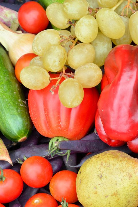 a splendid collection of fruit and vegetables from pesticide-free and glyphosate-free soils