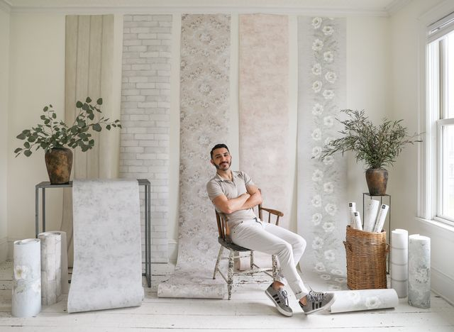 zio and sons partners with a street prints on a collection of fresco inspired wallpapers