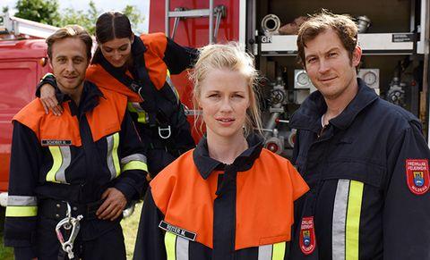 Christine Eixenberger y Stefan Murr en la película de bomberos 'A tu lado'