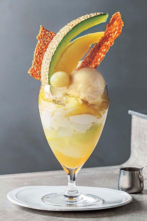 Food, Cocktail garnish, Drink, Frozen dessert, Ingredient, Non-alcoholic beverage, Garnish, Alcoholic beverage, Distilled beverage, Ice cream,