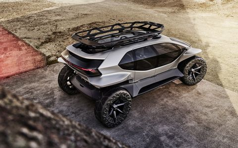 Audi AI:Trail Quattro Concept SUV Has Lunar Rover Styling and Zero Emissions