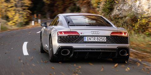 Land vehicle, Vehicle, Car, Automotive design, Performance car, Luxury vehicle, Audi, Supercar, Sports car, Road,