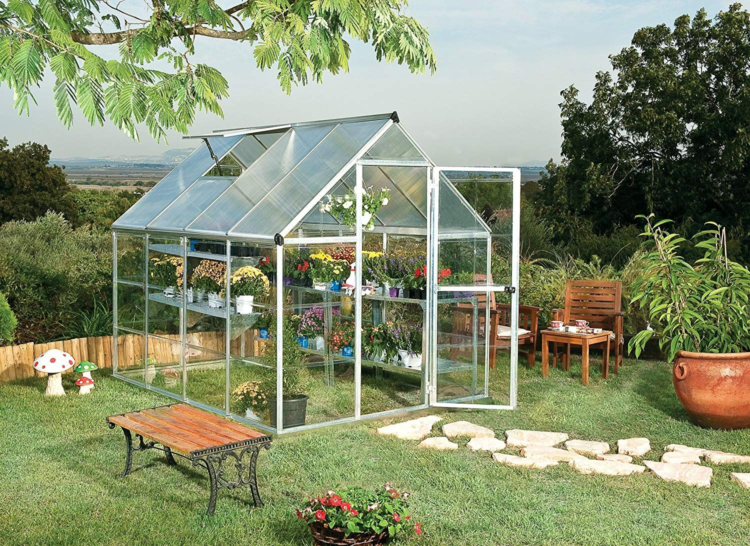Amazon Is Selling a Tiny Backyard Greenhouse to Fuel Your Plant Obsession