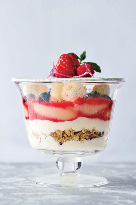 Food, Cuisine, Dish, Dessert, Trifle, Cranachan, Strawberry, Zuppa inglese, Ingredient, Mascarpone,