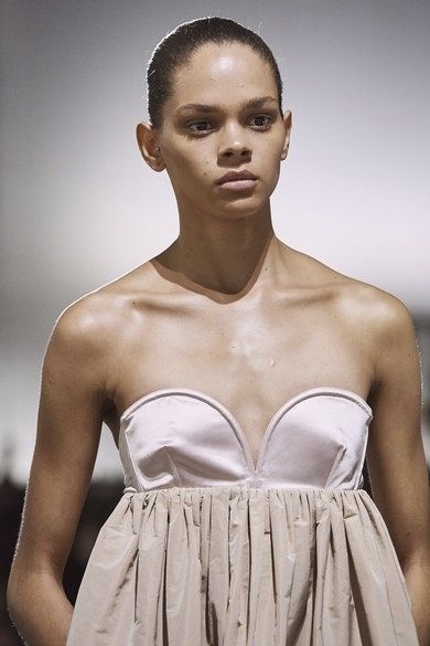 Fashion model, White, Fashion, Beauty, Clothing, Skin, Lip, Model, Dress, Hairstyle,