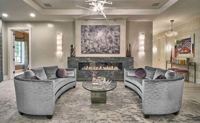 living room in grays