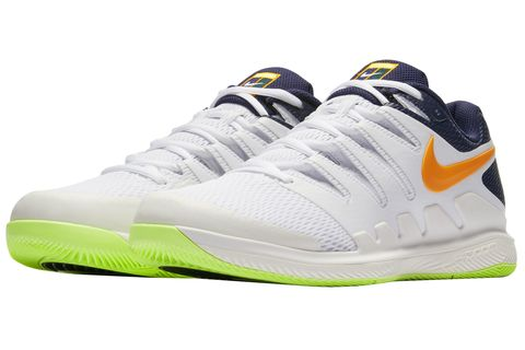 Shoe, Footwear, White, Running shoe, Outdoor shoe, Yellow, Sportswear, Walking shoe, Sneakers, Green,