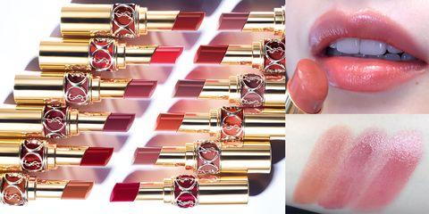 YSL,情挑誘光水唇膏,金管,泰奶色,乾燥玫瑰色,口紅,唇彩,beauty