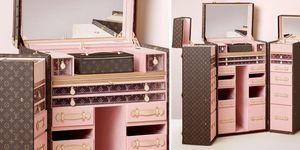 尖叫吧!LV粉紅化妝行李箱