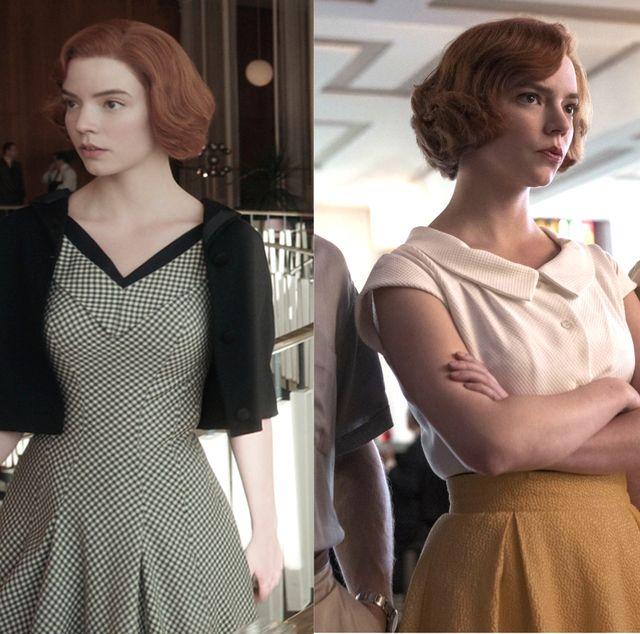 安雅泰勒喬伊的《后翼棄兵》30套復古穿搭總整理!從圖案色系全面解析「貝絲」的優雅衣櫥