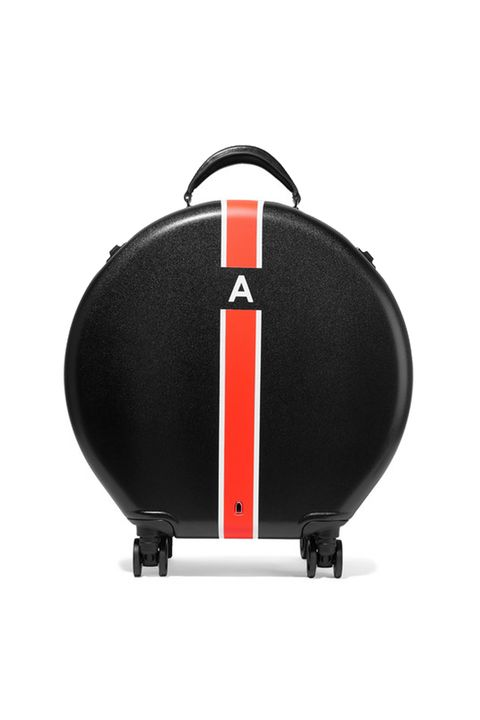 OOKONNPrinted leather-trimmed hardshell suitcase£300