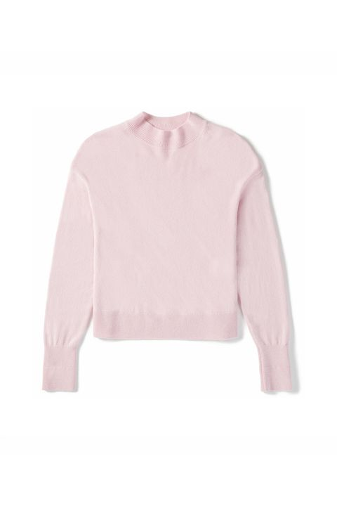Clothing, Pink, Sweater, Outerwear, Sleeve, Neck, Top, T-shirt, Blouse, Jersey,