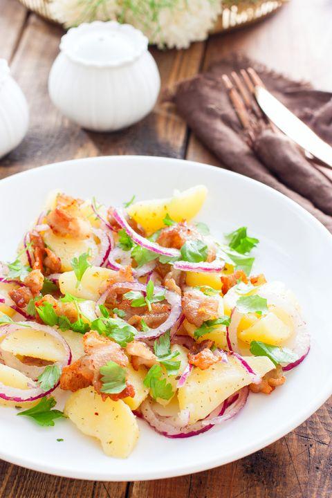 aardappelsalade met bacon
