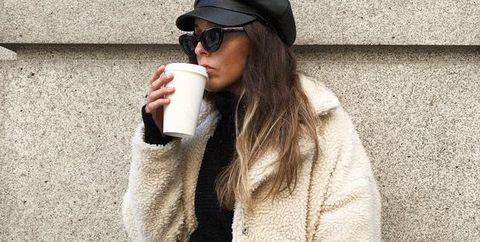 White, Clothing, Street fashion, Outerwear, Fashion, Eyewear, Cool, Snapshot, Beanie, Sunglasses,