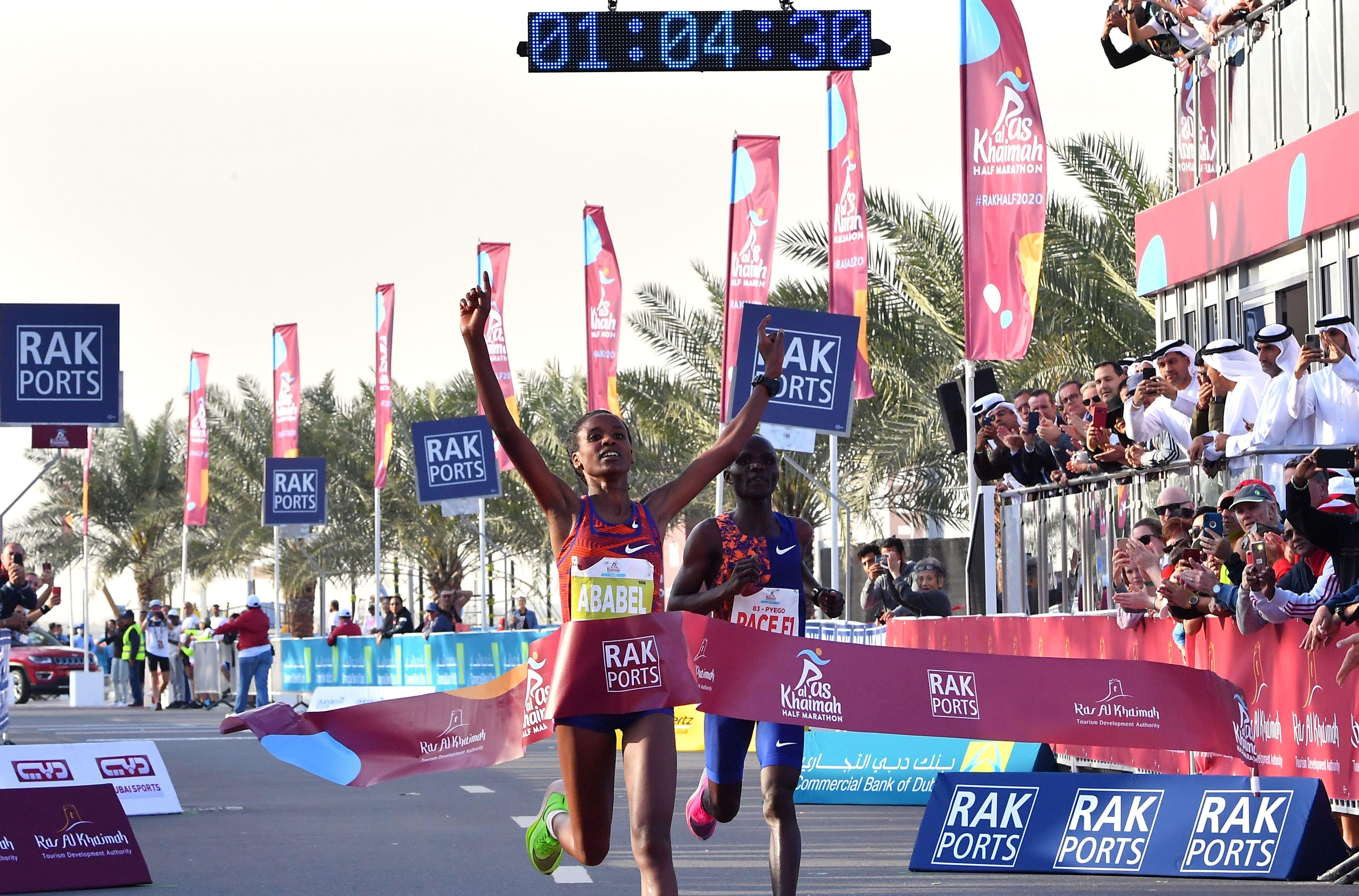 Ababel Yeshaneh smashes women's half marathon world record