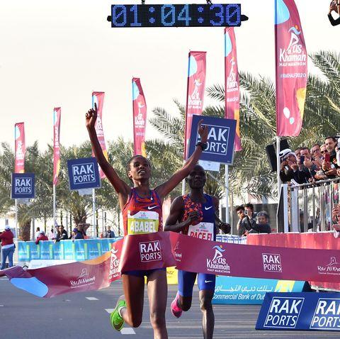 womens half marathon record