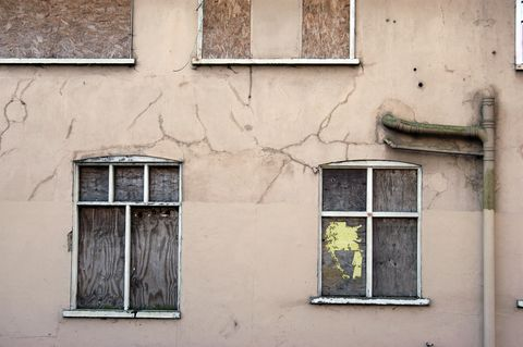 abandoned council houses, england
