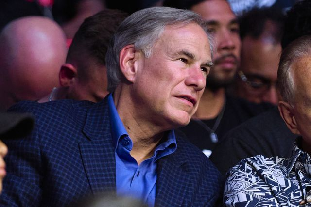 houston, texas   august 07 governor of texas greg abbott is seen in attendance during the ufc 265 event at toyota center on august 07, 2021 in houston, texas photo by cooper neillzuffa llc