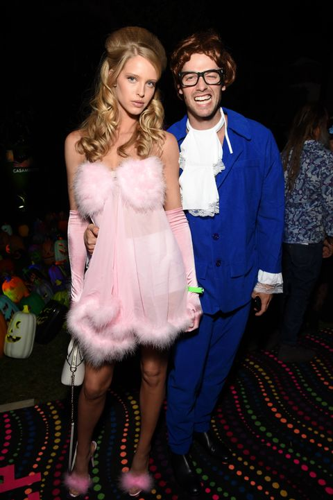 patrick schwarzenegger and abby champion as austin powers and fembot