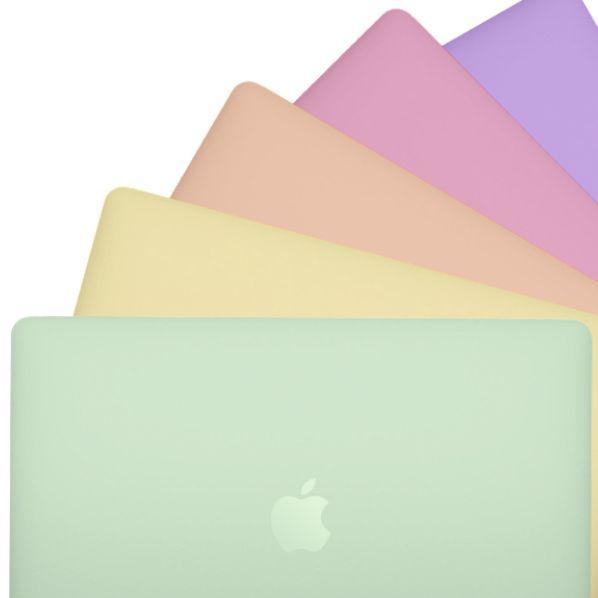 綠色黃色橘色粉色紫色的macbook air