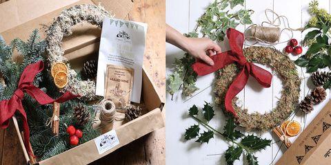 Abel & Cole wreath making kit