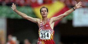 20 años.Abel Antón ganó el Mundial en maratón en Sevilla 1999.