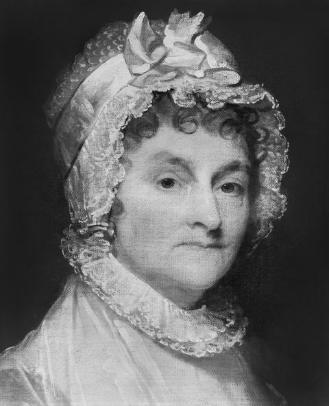 abigail smith adams 1744 1818, wife of us president john adams, head and shoulders portrait by gilbert stuart