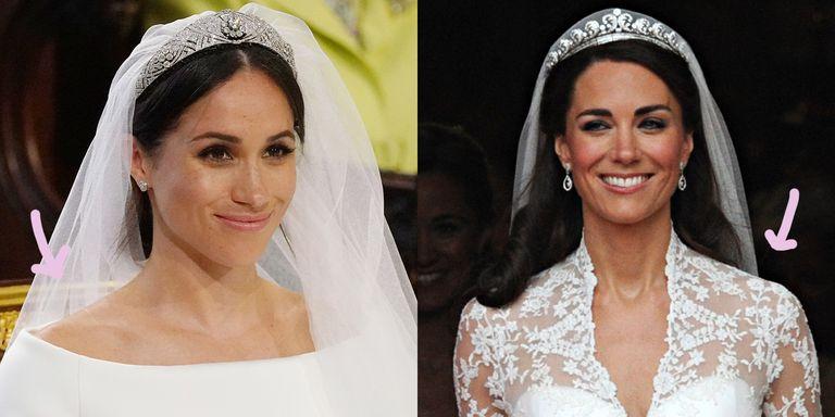 Meghan Markle vs Kate Middleton, l'abito da sposa a confronto (e tutte le differenze)