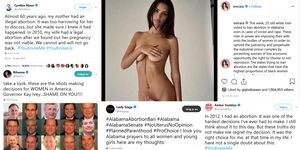 Abortuswet, alabama, celebrities, hashtag you know me