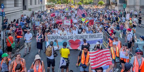 About 15 thousand New Yorkers marched in support of...