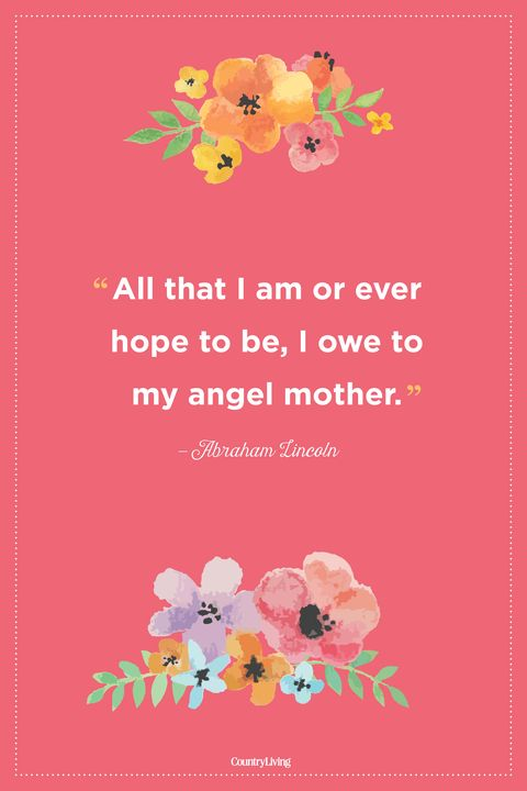 abraham lincoln mothers day quote