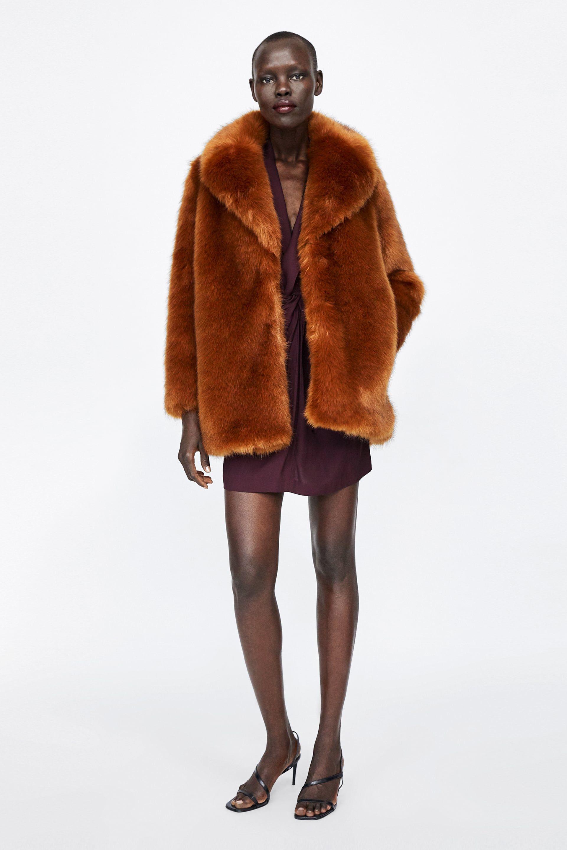 Pelo' De Pelo Abrigos Zara Zara Los Novedades 'efecto UwBYq