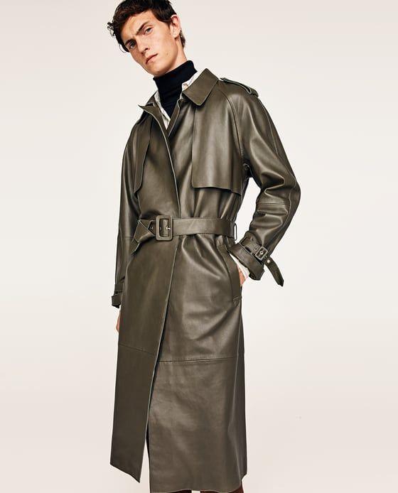 Abrigo de hombre con cinturón de Zara
