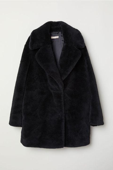 Clothing, Outerwear, Black, Sleeve, Overcoat, Coat, Collar, Jacket, Fur,
