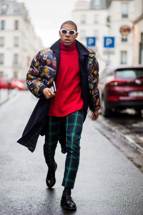 Abrigos acolchados hombre en el street style