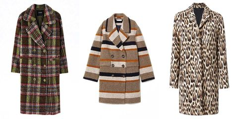 Especial abrigos estampados. 10 abrigos de rayas, cuadros y animal-print para todos los gustos.
