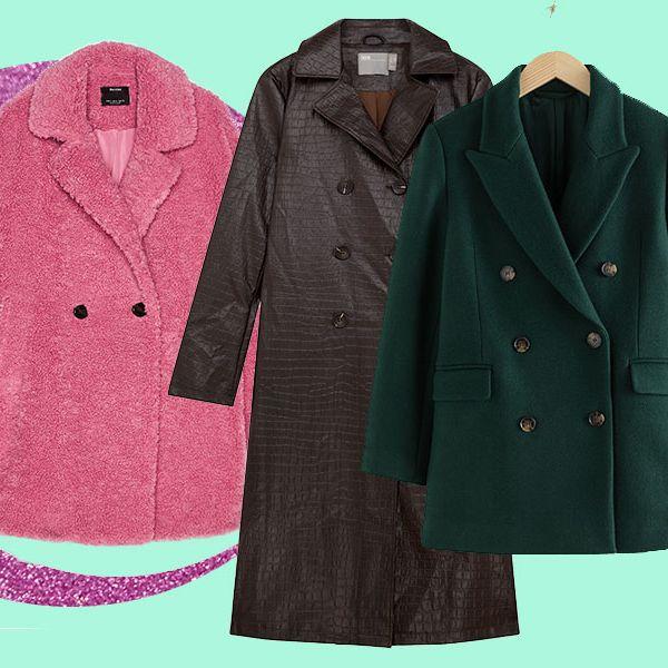 Clothing, Outerwear, Overcoat, Coat, Pink, Sleeve, Jacket, Trench coat, Magenta, Blazer,