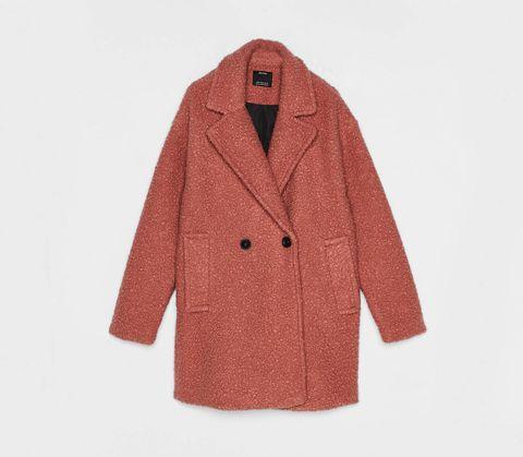 Clothing, Outerwear, Coat, Sleeve, Overcoat, Trench coat, Collar, Jacket, Woolen, Beige,